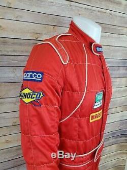 1987 Sparco Italian Flame Resistant VTG Racing Pit Stop Suit Rolex NASCAR Sz 56