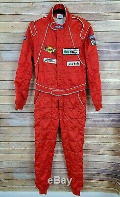 1987 Sparco Italian Flame Resistant VTG Racing Pit Stop Suit Rolex NASCAR Sz Red