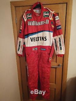 1999 Williams Formula 1 F1 Race Pit Crew Suit Sparco Overalls Ralf Schumacher