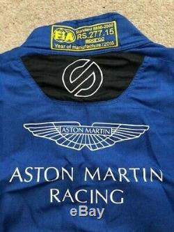 2015 ASTON MARTIN RACING SPARCO X-LITE RACESUIT Sz 56 BLUE FiA 8856-2000 READ