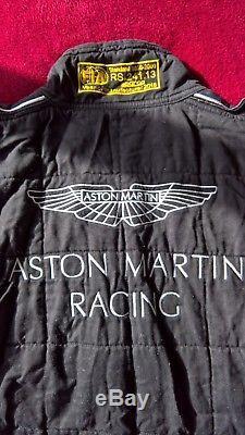 2016 ASTON MARTIN RACING SPARCO RACESUIT SIZE 56 BLACK FiA 8856-2000 GOOD
