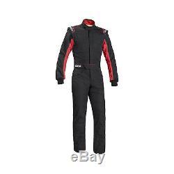 2017 Sparco SPRINT RS-2.1 Race Suit Black/Red (FIA homologation) size 56
