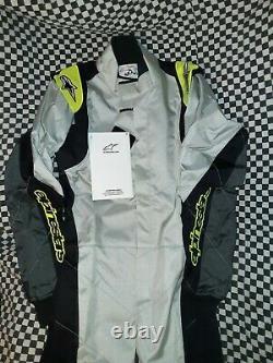 Alpinestars KMX-1 Racing Suit, Black/yellow gray, Size 42, sparco omp