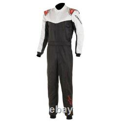 Alpinestars Stratos Racing Rally Race Suit (FIA Approved) black white size 50