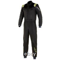 Alpinestars Stratos Racing Rally Race Suit (FIA Approved) black yellow size 46