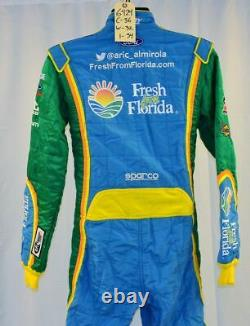 Aric Almirola Petty Fresh From Florida Sparco Race Used NASCAR DRIVER SUiT #6424