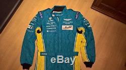 Aston Martin Racing Valero Sparco Mechanics Suit Size 54 Blue 2016 R538 Good