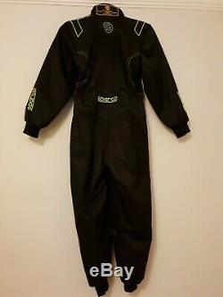 Black Sparco Kart Suit Karting CIK-FIA Youth Size 140cm Excellent Condition