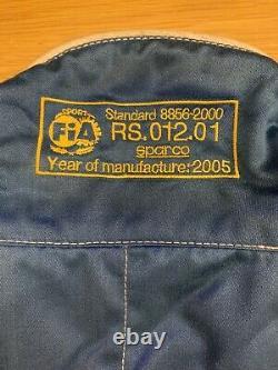 Blue Sparco Nomex FIA Approved Race Suit Size 60 XL 8856-2000