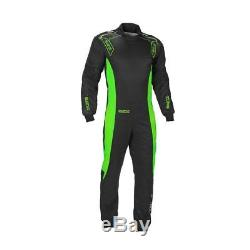 CIK Sparco Ergo-7 Kart Suit L Black fluo Green CHEAP DELIVERY overall