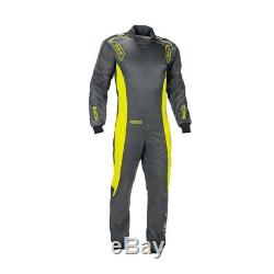 CIK Sparco Ergo-7 Kart Suit M Grey Yellow CHEAP DELIVERY overall