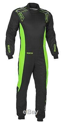 CIK Sparco Ergo-7 Kart Suit S Black fluo Green CHEAP DELIVERY overall