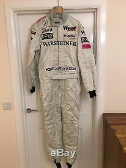 david coulthard sparco race suit for 2001 west mclaren mercedes mp4