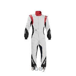 EU Sparco Italy EAGLE RS-8.1 Race Suit White/Red (FIA) s 48