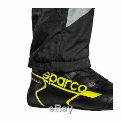 EU Sparco Italy GRIP RS-4 Racing Suit Black/Yellow Homologation FIA s 48