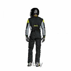 EU Sparco Italy GRIP RS-4 Racing Suit Black/Yellow Homologation FIA s 52