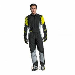 EU Sparco Italy GRIP RS-4 Racing Suit White/Red (Homologation FIA) s 50