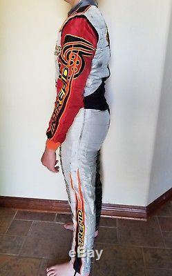 Embroidered Intrepid Sparco Kart Racing Suit Size 52