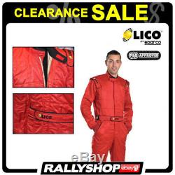 FIA Lico By Sparco Diamond Suit, size 58, Red, FREE DELIVERY, CLARANCE SALE