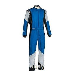 FIA Nomex Sparco Grip RS-4 Racesuit Blue Grey Reduced from £540 Size 52