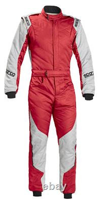 FIA Racing Suit SPARCO ENERGY RS-5 Rally RS5 Race Overall Red Silver STOCK 21