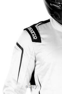 FIA Racing Suit SPARCO PRIME PRO Rally Race Sport White Black Overall