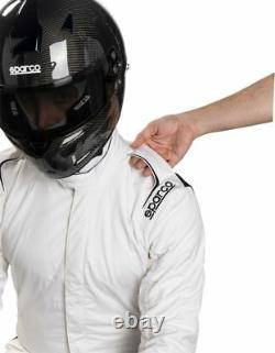 FIA Racing Suit SPARCO PRIME SP-16.1 Rally Race Sport White Overall STOCK 21