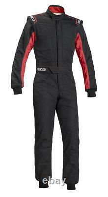 FIA Racing Suit SPARCO SPRINT RS-2.1 Rally RS2.1 Race Overall Black Red STOCK 21