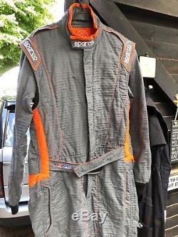 FIA SPARCO racing suit GREY/ORANGE HoCo Tex