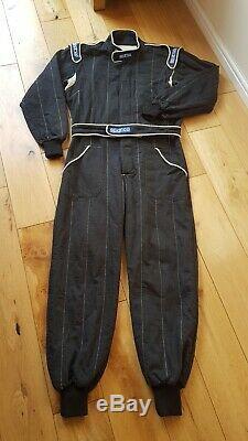 FIA Sparco Nomex Race Suit Size 56 Black