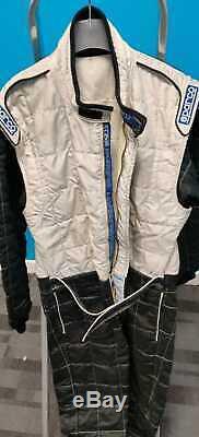 FIA Sparco Nomex Race Suit Size 60 Black & White Vintage Retro Car Rally