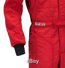 FIA Sparco Sprint RS-2 Race Suit, Size 52, Red, 2 Layer Racing Rally Track Day