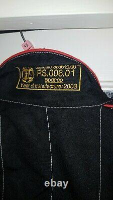 FIA approved SPARCO R506 Black Fireproof Race Suit, size 54