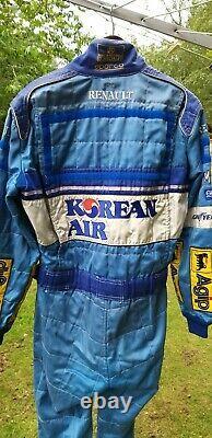 Genuine Benetton F1 Nomex Sparco Race Suit size 56