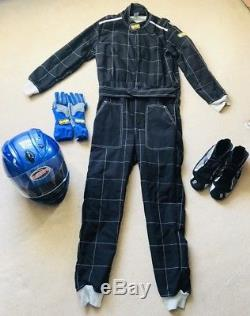Go Kart Race Suit Omp. Sparco Gloves & Boots & Helmet. Size 43 Boots Full Set Up