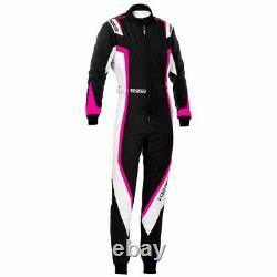 Go Kart Sparco Kerb Race Suit Female Black / White / Magenta S Karting