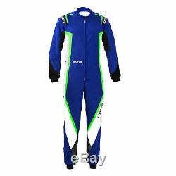 Go Kart Sparco Kerb Race Suit Male Blue / White / Fluro Green L Karting
