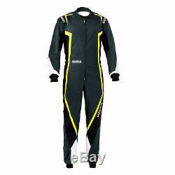 Go Kart Sparco Kerb Race Suit Male Grey / Black / Fluro Yellow S Karting