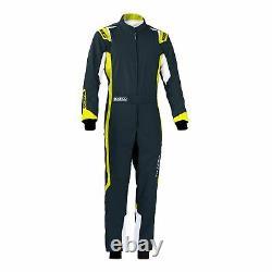 Go Kart Sparco Thunder Race Suit Black / Fluro Yellow XXL Karting Race Racing
