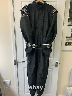 Go Kart Sparco X-Light Race Suit Black / White 60 Large Karting Race Racing