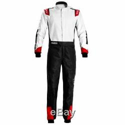 Go Kart Sparco X-Light Race Suit Black / White / Red 58 Karting Race Racing