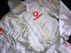 Lewis Hamilton Signed Mclaren Race Suitsparco Fia Suitgenuinewith Vip Pass