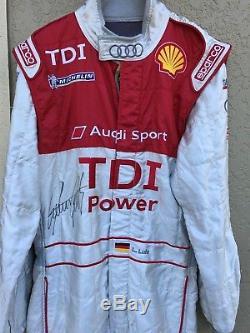 Lucas Luhr, Race Worn Audi Sport Tdi, 2009 Lemans Sparco Drivers Suit, Hand Signed