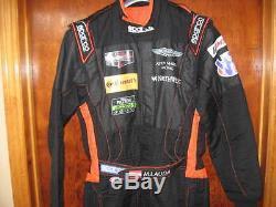 Mathias Lauda Aston Martin race used Sparco drivers suit Daytona/Sebring