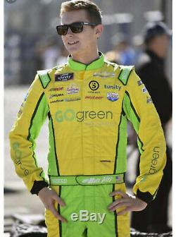 Matt Tifft, Signed Race Used Go Green Equipement Xfinity Sparco Drivers Suit