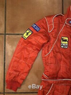 Mens EUC Sparco FERRARI Orange Flame Resistant Made in Italy Racing Suit Sz 46