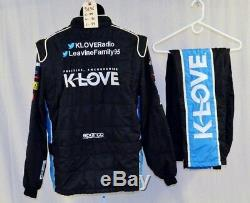 Michael McDowell KLOVE Sparco SFI-5 Race Used NASCAR Fire suit #5136 44/30/29