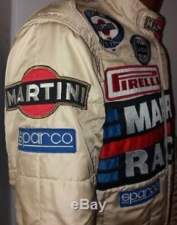 Miki Biasion Sparco Race Rally Suit Martini Lancia