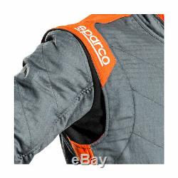 New Sparco VICTORY RS-7 Racing Suit Grey/Blue (Homologation FIA) 52