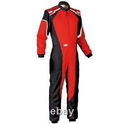 OMP Racing KS-3 Karting Kart Suit black/red (CIK FIA Approved) size 54